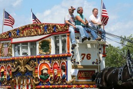 Circus wagons featured in parades are often very ornately decorated.