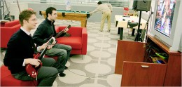Play guitar at Google office