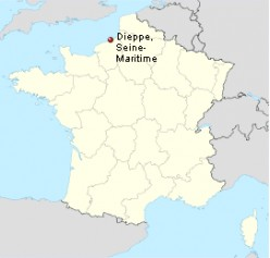 Map location of Dieppe