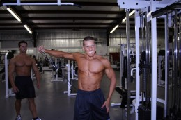 Workout in a gym