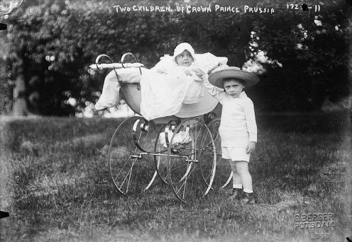 1908 Pram. Note the high wheels.