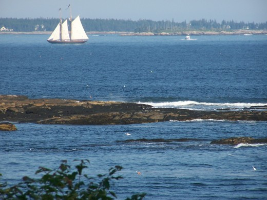 Big Pond, the Atlantic Ocean from Maine Coast