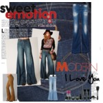 This is my first polyvore set creation that i made, I wanted to do one about flare jeans because I just love how flare jeans look and it reminds me of my deep love for the 70s.