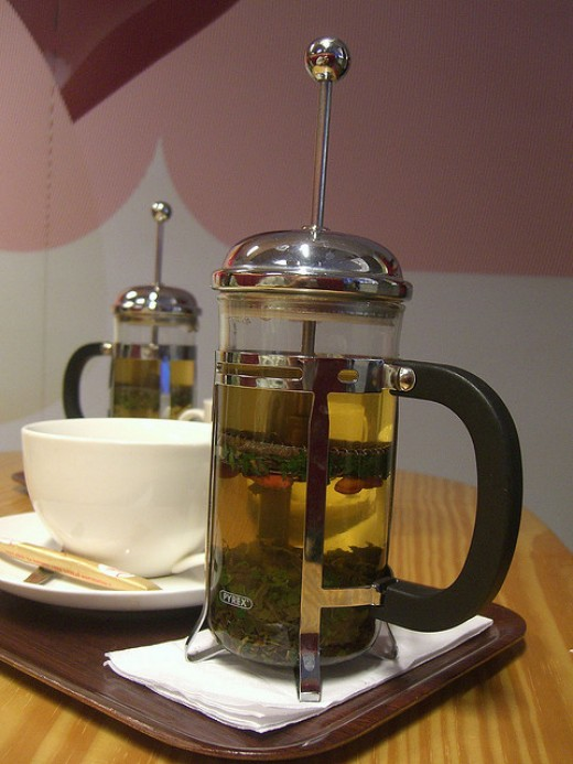 Infusion in French press