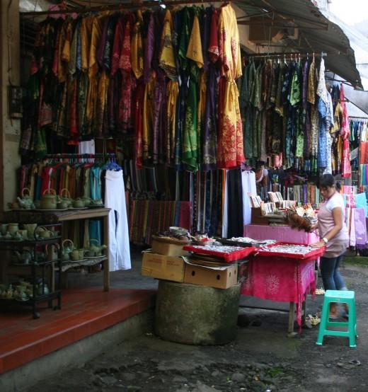 Lane of shops in Ubud, Bali