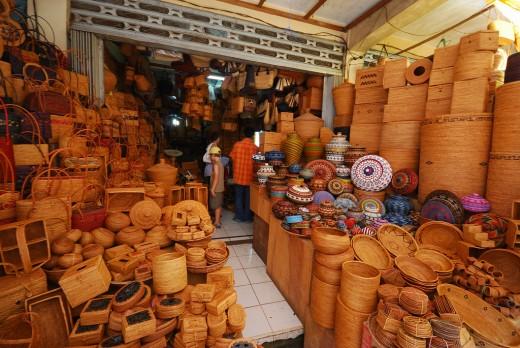Handicraft shop in Ubud, Bali.