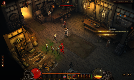 The Risen turning from sick citizens in Diablo 3.