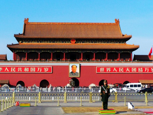 Beijing , the Capital City of China The tiananmen tower, and the symbol of the Chinese people and representatives