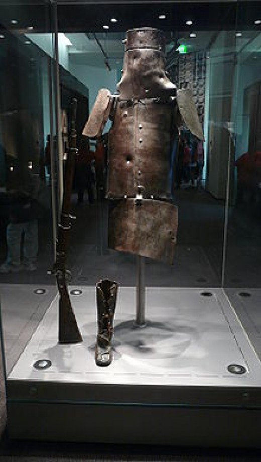 Ned Kellys Armour from the battle at Glenrowan