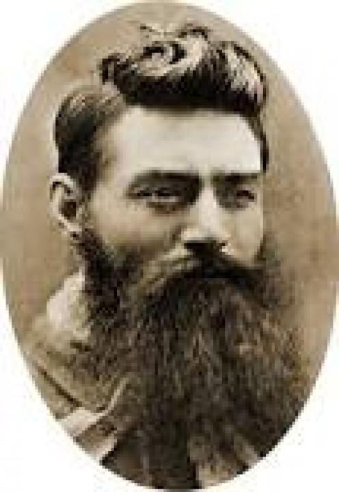 Ned Kelly aged approximately 25 years.