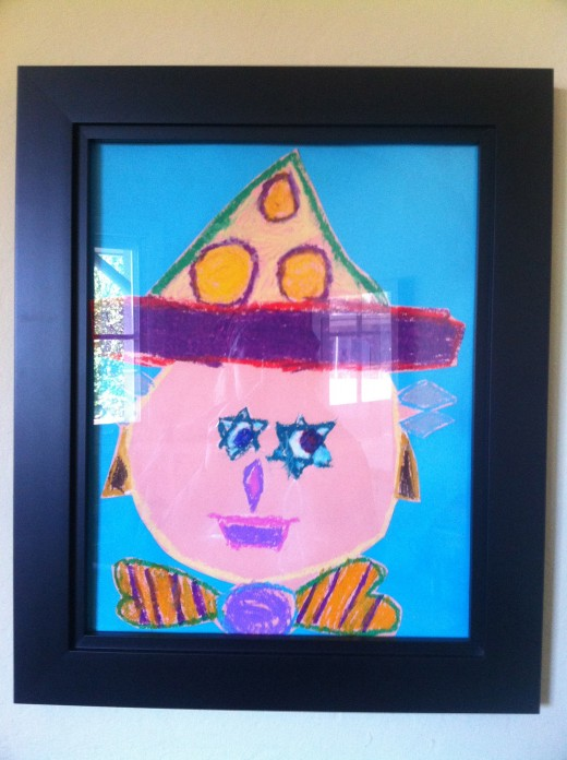PTA provides art supplies for our school.  This is artwork our daughter did in her 1st grade classroom.