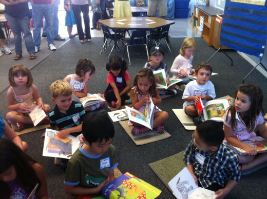 PTA provides many of the supplies in this kindergarten classroom