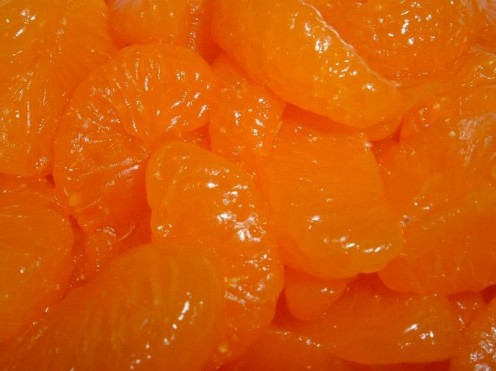 Mandarin Oranges are often used in Ambrosia Salad, or other small oranges.