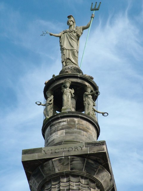 Britannia at the top of Nelson's monument in Great Yarmouth