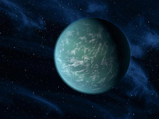 Artist's impression of the new planet Kepler-22b.