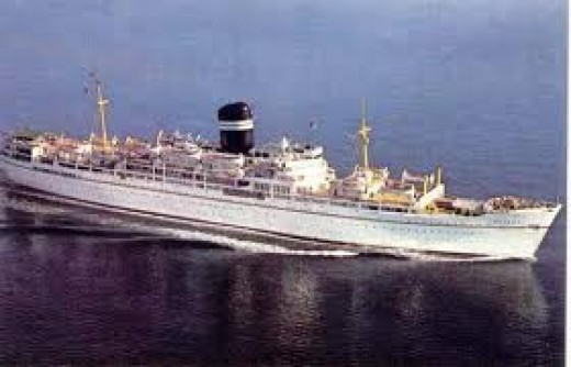 Typical middle sized passenger liner of a few years back.
