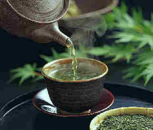 To drink green tea is the best!