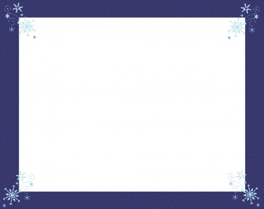 This frame fits the snowflake theme.