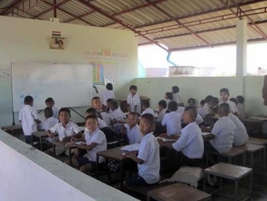 Inside the school