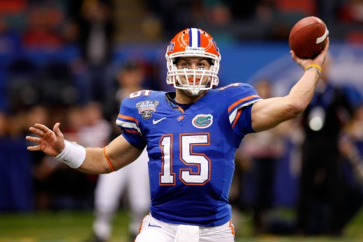 TEBOW WITH THE FLORIDA GATORS