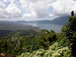 """""""Danau Batur"""" or Lake Batur; Bali, Indonesia."""