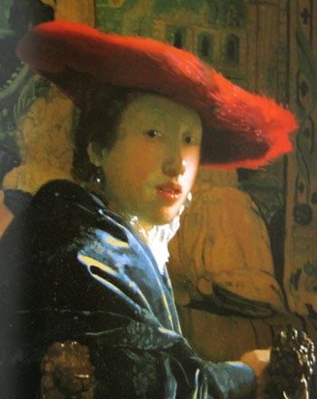 """Girl with a Red Hat"" by Vermeer"
