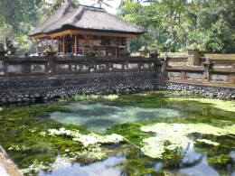 Sacred spring and temple of Tirta Empul. Ancient Sites around Ubud, Bali, Indonesia.
