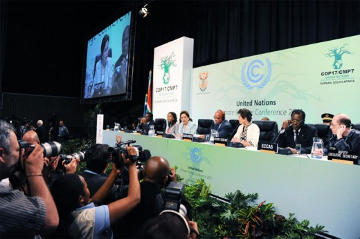 The UN Climate Conference in Durban, South Africa resulted in Canada withdrawing from the Kyoto Protocol.