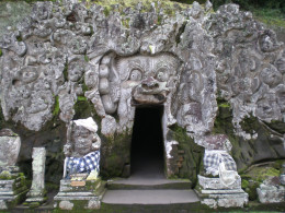 """Goa Gajah"" or Elephant Cave, an ancient Buddhist hermitage. Ubud, Bali, Indonesia."