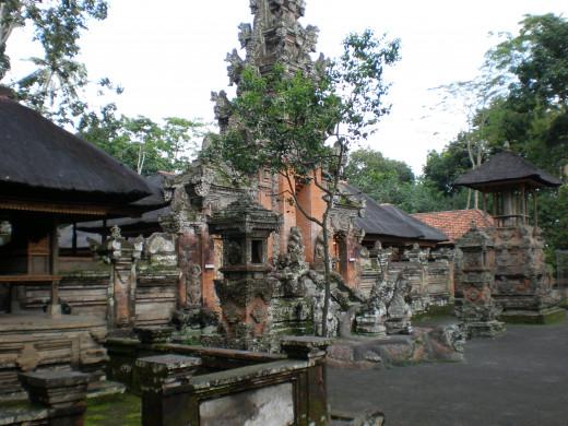 One of the Temples located at the Monkey Forrest Sanctuary (Mandala Wisata Wanara Wana); Ubud, Bali, Indonesia.