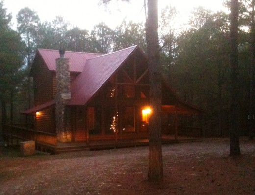 This cabin sits on 1 acre and sleeps 6-8 People.  It's less than a half mile from Abendigo's