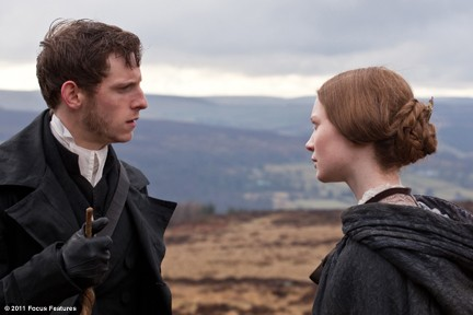 "Bell and Wasikowska plot a convenient relationship without love in ""Jane Eyre."""