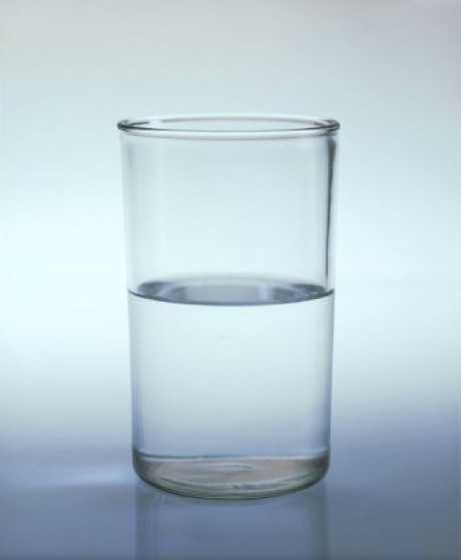 Half empty or half full? Perhaps the glass is just too big!