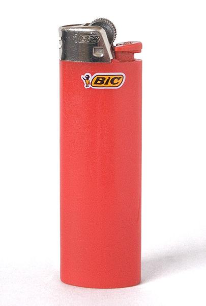 A Bic cigarette lighter