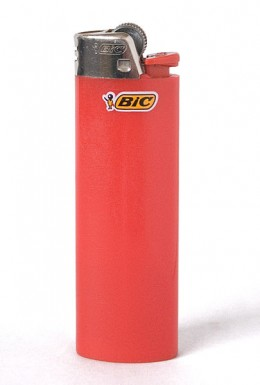 A Bic cigarette lighter