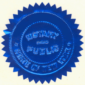 Notary Seal...