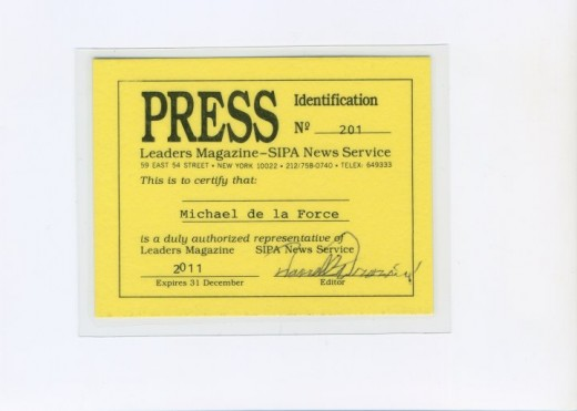 PRESS CREDENTIALS LEADERS Magazine SIPA News Service