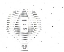 Happy New Year ASCII Text Art