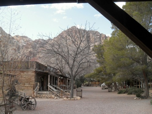 A series of buildings depicting how the Old West might have been in the 1800's make up what is Bonnie Springs Ranch today