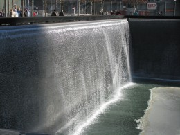 The other side of the Reflecting Pool's waterfall.