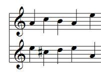 Top Row: Paganini (Part of Caprices Theme)    Bottom Row: Rachmaninov (Inversion: 18th Variation Theme)