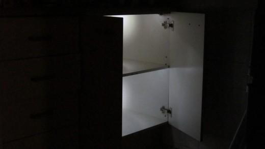 Voilà! Light emitting cupboard