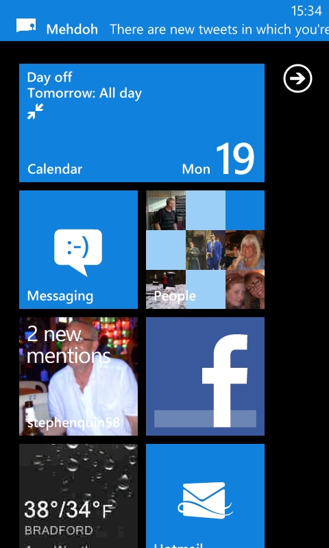 Lumia Home Screen
