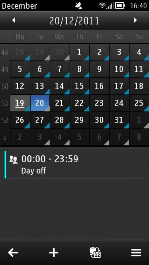 E7 Calendar
