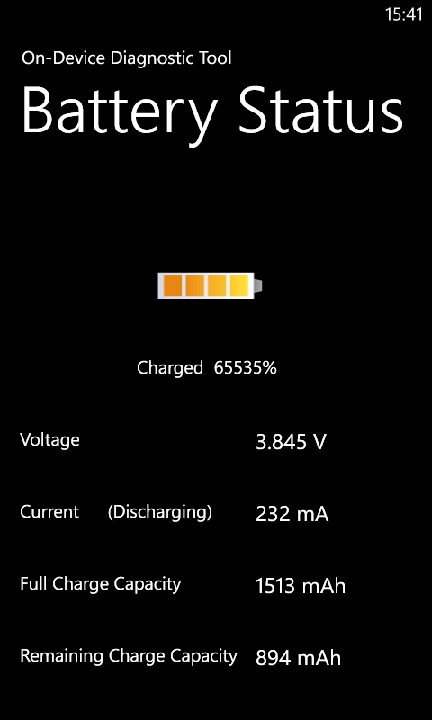 Battery Status Lumia