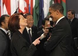 Julia Gillard with President Obama