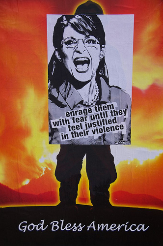 Sarah Palin Fear Poster by Eddie Colla from Steve Rhodes  Source: flickr.com