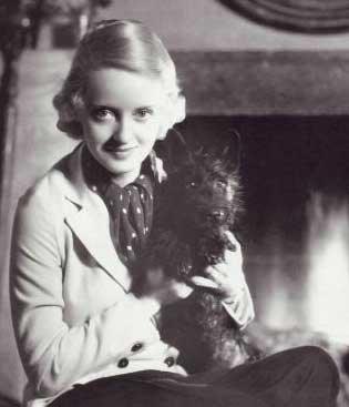 Bette Davis and her beloved Scotty