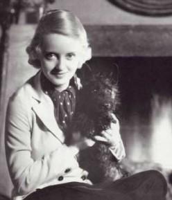 Bette Davis and her beloved Scotty