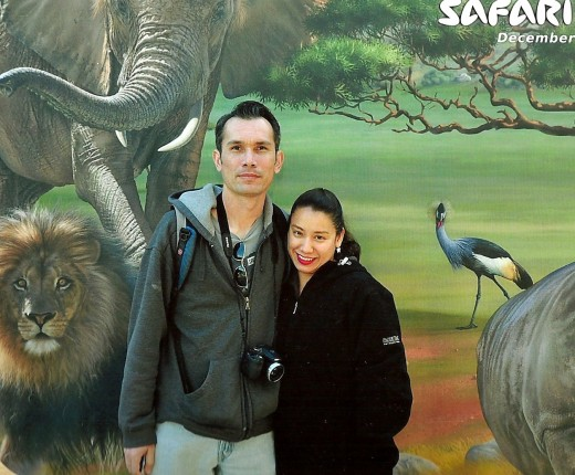Me and Marilyn at the Safari Park.